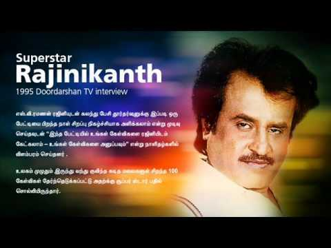 Superstar Rajini's 1995 Doordarshan Interview