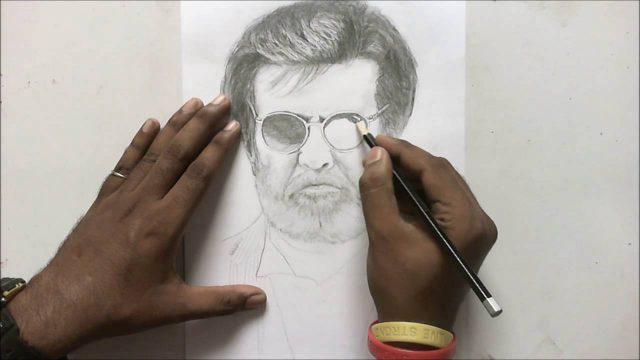 Portrait Of Kabali Rajini by AnbuChezhian
