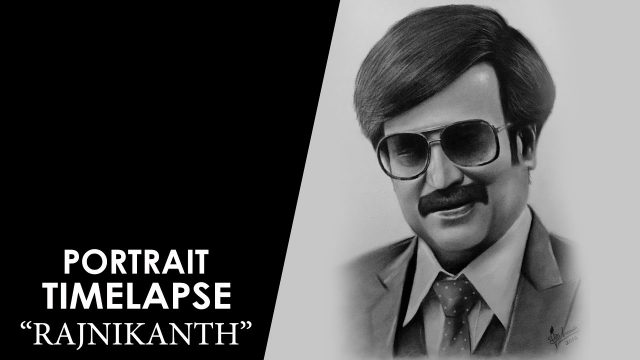 Rajnikanth realistic portrait drawing