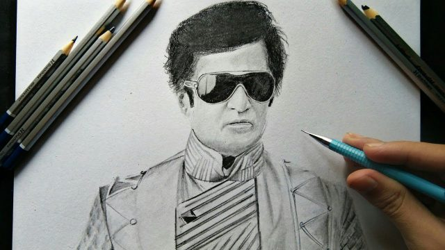 Robot 2.0 Drawing Rajinikanth | Pencil sketch